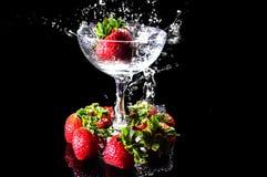 Frukt och färgstänk Royaltyfri Foto