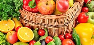 Frukt och grönsakbakgrund Royaltyfri Bild