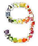 Frukt- och grönsakbokstav Royaltyfria Bilder