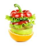 Frukt- och grönsakbunt Fotografering för Bildbyråer