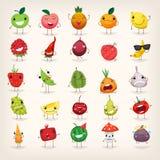 Frukt- och grönsakemoji Arkivfoto