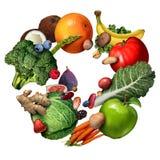 Frukt och grönsaker stock illustrationer