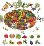 Frukt och grönsaker Royaltyfria Bilder