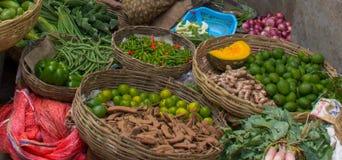 Frukt- och grönsakmarknad i Indien royaltyfri foto