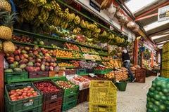 Frukt- och grönsakmarknad, Paloquemao, Bogota Colombia Arkivbild