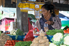 Frukt- och grönsaksäljare Arkivbild
