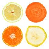 Frukt- och grönsakskivor fotografering för bildbyråer