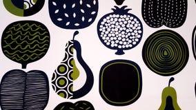 Frukt- och grönsaktryckdiagram Royaltyfria Foton
