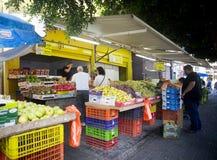 Frukt- och grönsakmarknad Hadera Israel Fotografering för Bildbyråer