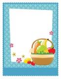 Frukt- och veggiekorgreklamblad Royaltyfri Fotografi