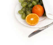 Frukt på bordlägga arkivbild