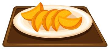 Frukt på maträtten stock illustrationer