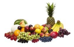 Frukt på white royaltyfri fotografi