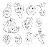 Frukt roligt tecknad filmtecken Arkivbilder