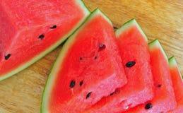 Frukt - skivad vattenmelon Royaltyfria Bilder