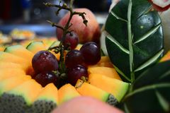 Frukt som är ny för din baner och broschyr Arkivbilder