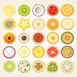 Frukt som skivas i halva Arkivbilder