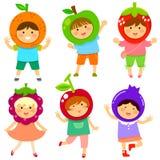 Frukt- ungar royaltyfri illustrationer