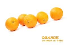 frukt vita isolerade orange apelsiner Royaltyfri Bild