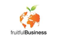 fruktbar logo för affär stock illustrationer