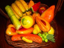 Fruktbasquet royaltyfria foton
