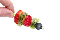 Fruktblandningcanapes Arkivbild