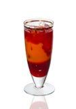 Fruktcoctail i ett exponeringsglas Royaltyfri Bild
