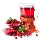 Fruktdrink som göras från cranberries Royaltyfria Foton