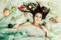 Fruktdrottning Arkivbild