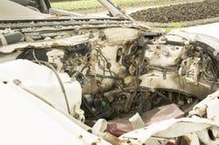 Fruktdryck för bilhaverikraschen dör sammanstötningen drucken skadeknipaförlust royaltyfri bild
