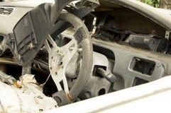 Fruktdryck för bilhaverikraschen dör sammanstötningen drucken skadeknipaförlust arkivfoto
