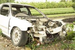 Fruktdryck för bilhaverikraschen dör sammanstötningen drucken skadeknipaförlust arkivbilder