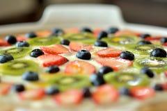 Fruktefterrättkaka Fotografering för Bildbyråer