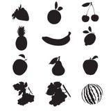 frukter stock illustrationer