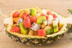frukter blandar skivat Royaltyfri Fotografi
