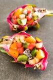 frukter blandar skivat Royaltyfria Bilder