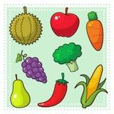 Frukter & grönsaker 01 Vektor Illustrationer