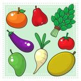 Frukter & grönsaker 02 Vektor Illustrationer