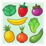 Frukter & grönsaker 03 Vektor Illustrationer