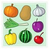 Frukter & grönsaker 04 Vektor Illustrationer
