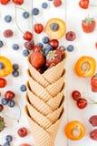 Frukter i kotte Arkivfoto