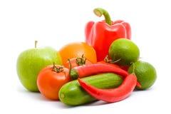 frukter isolerade grönsaker arkivbild