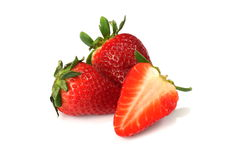 frukter isolerade jordgubbar Royaltyfri Bild
