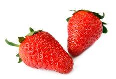 frukter isolerade jordgubbar Arkivbild