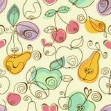 frukter mönsan seamless stock illustrationer