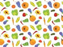 frukter mönsan seamless grönsaker Fotografering för Bildbyråer