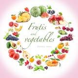 Frukter och grönsaker royaltyfria bilder