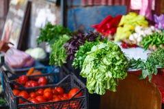 Frukter och grönsaker på en bondemarknad Royaltyfri Fotografi