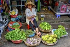 Frukter och grönsaker shoppar Arkivbilder