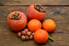 Frukter och hasselnötter Royaltyfria Foton